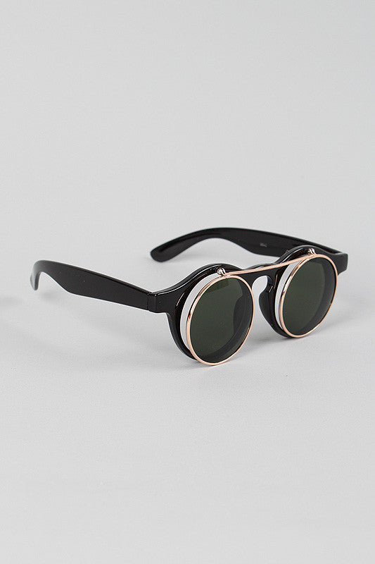 Bella Vogue Sunglasses - BLK+BLU