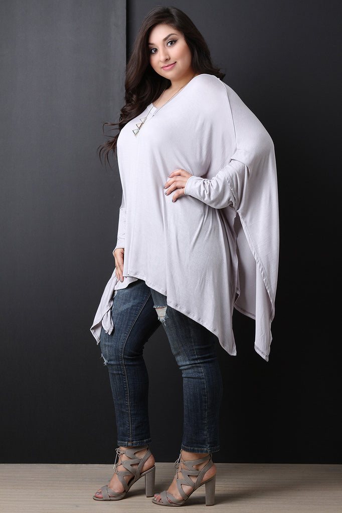 Sharkbite Long Dolman Sleeve Top - BLK+BLU