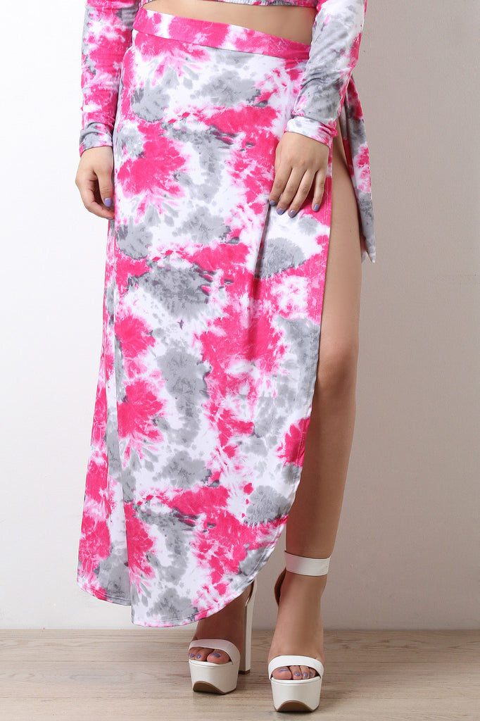Tie Dye Open Side Skirt