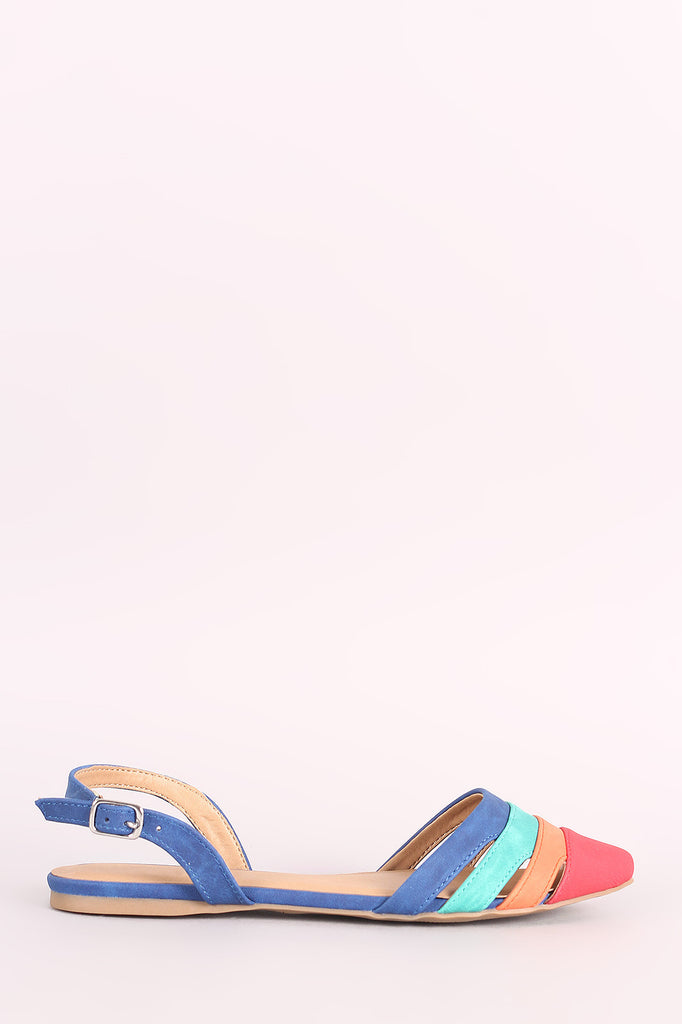 City Classified Colorblock Slingback Flat - BLK+BLU