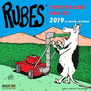 Rubes Twisted Cow Comics 2019 Wall Calendar