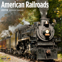 Locomotive Barreling down the railroad on the cover of a calendar