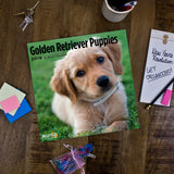 Golden Retriever Puppies 2019 Wall Calendar