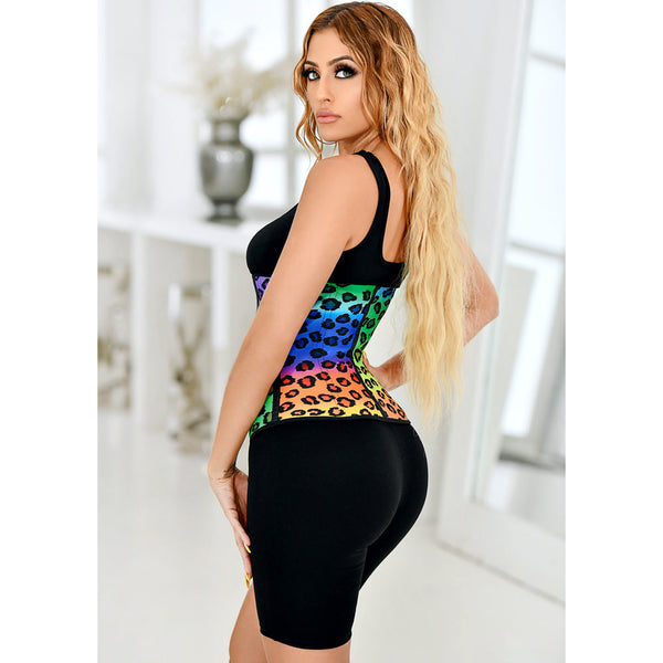 Rainbow Leopard Waist Trainer 3 Hook
