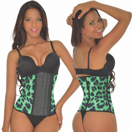 Green Leopard Waist Trainer 3 Hook