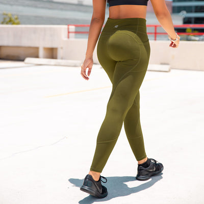 Heart Booty Leggings- Army Green
