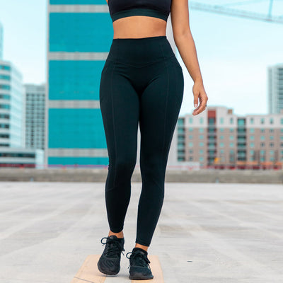 Heart Booty Leggings- Black