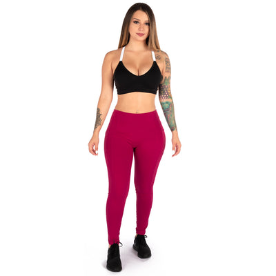 Heart Booty Leggings- Cranberry