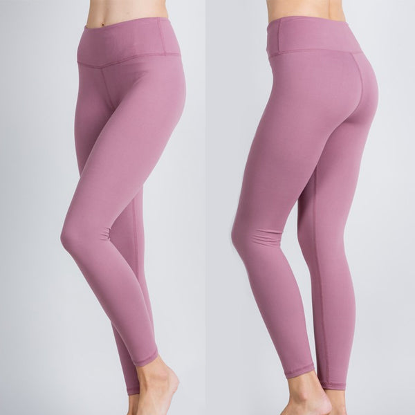 High Waist Butter Leggings- Mauve