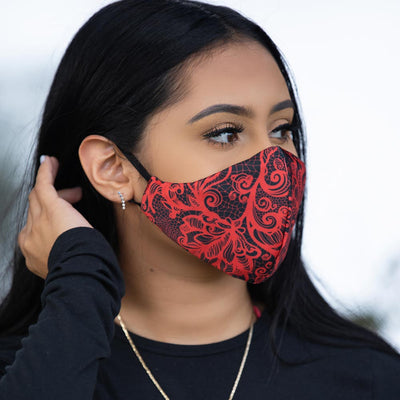 Mask- Red Lace