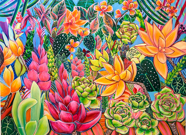 Hawaii Original Tropical Floral Paintings