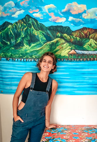 The right art work in the right place makes the difference, hanalei pier paitning kauai hawaii