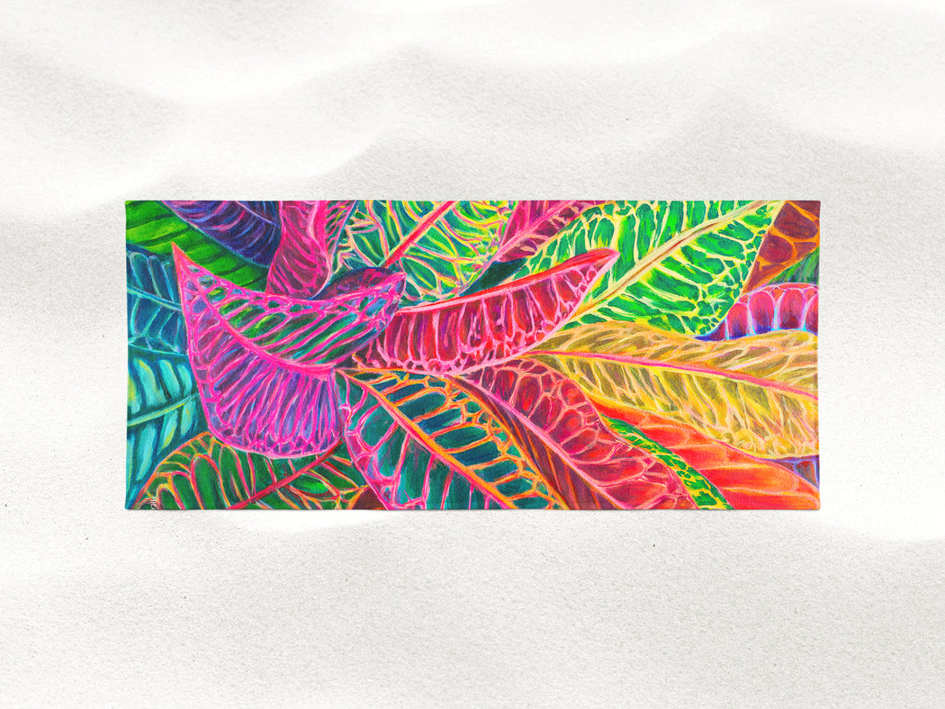 Tropical Crotons - Microfiber Towel