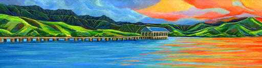Sunset at Hanalei Pier - SOLD
