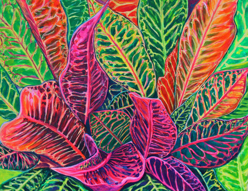 Hawaiian Tropical Crotons Mix #4 - MICHAL ART STUDIO HAWAII - florals