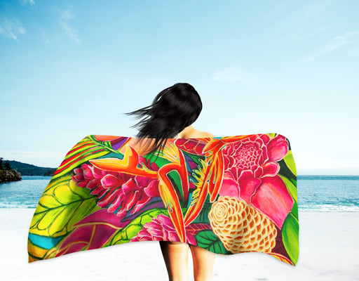 Hawaiian Love  - Microfiber Towel