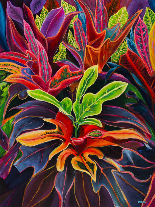Sunset Flowers (Kauai Flowers #2) - MICHAL ART STUDIO HAWAII - florals