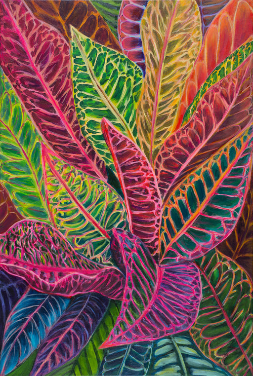 Tropical crotons - MICHAL ART STUDIO HAWAII - florals