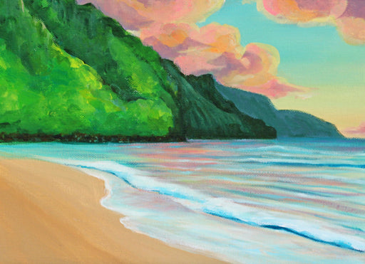 Kee beach sunset - Kauai - SOLD