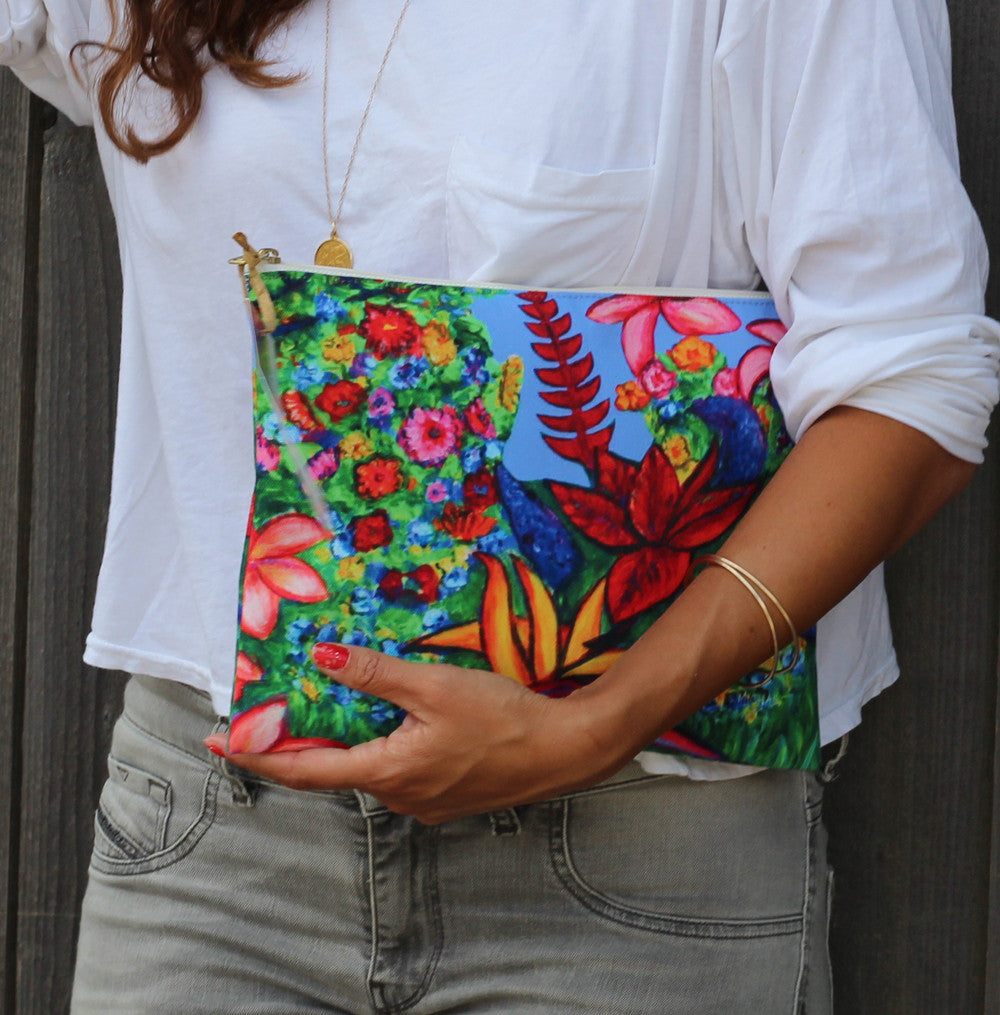 Hawaiian Flowers Clutch