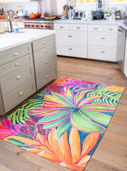 Open Heart Flowers - Stunning Floor Rug