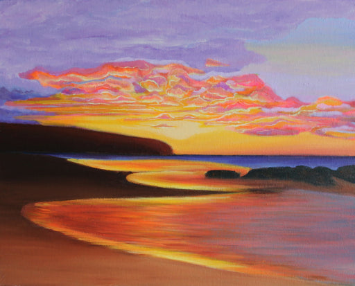 Rock piles sunset - SOLD