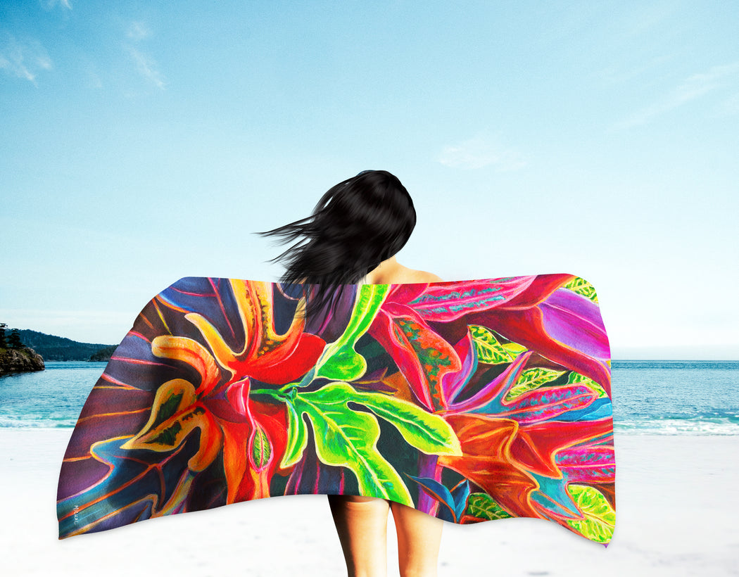 Sunset Flowers - Microfiber Towel