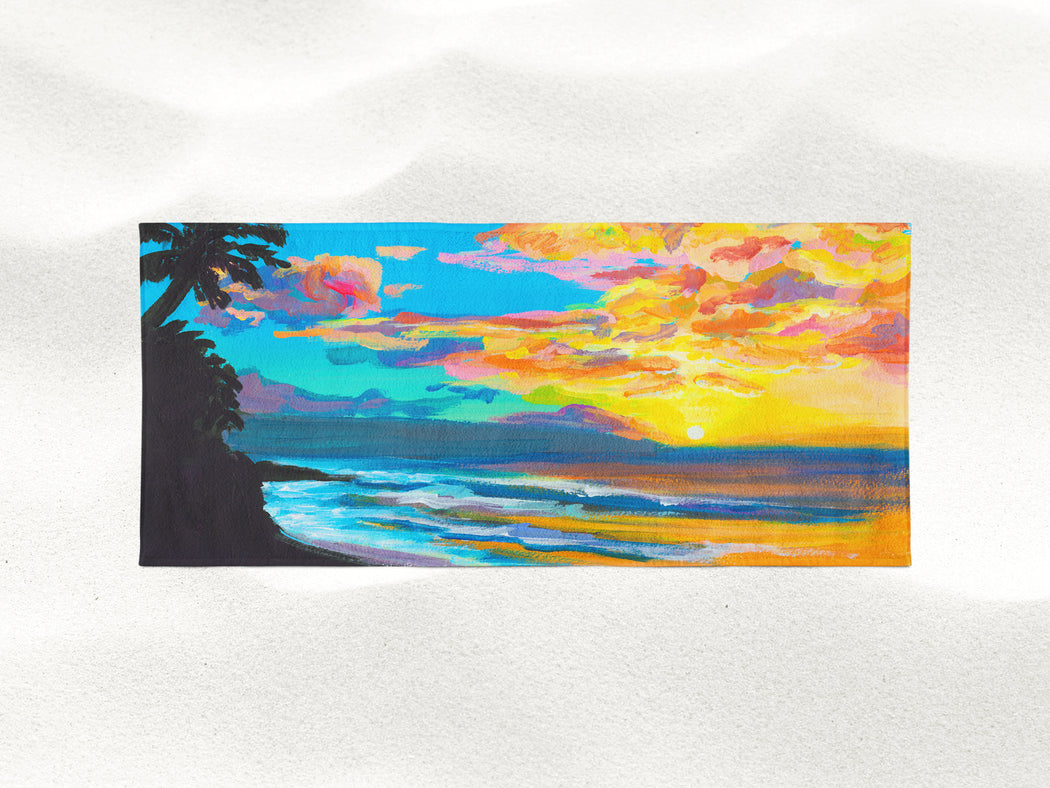 Tropical Sunset - Microfiber Towel