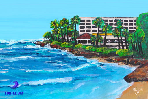 Trutle Bay resort - North shore oahu, comissioned painting
