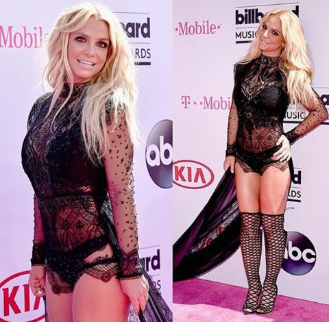 britney spears black lace dress