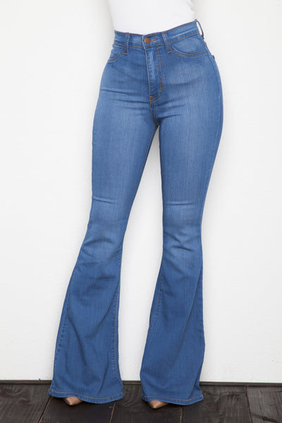 Stretch Bell Bottom Denim