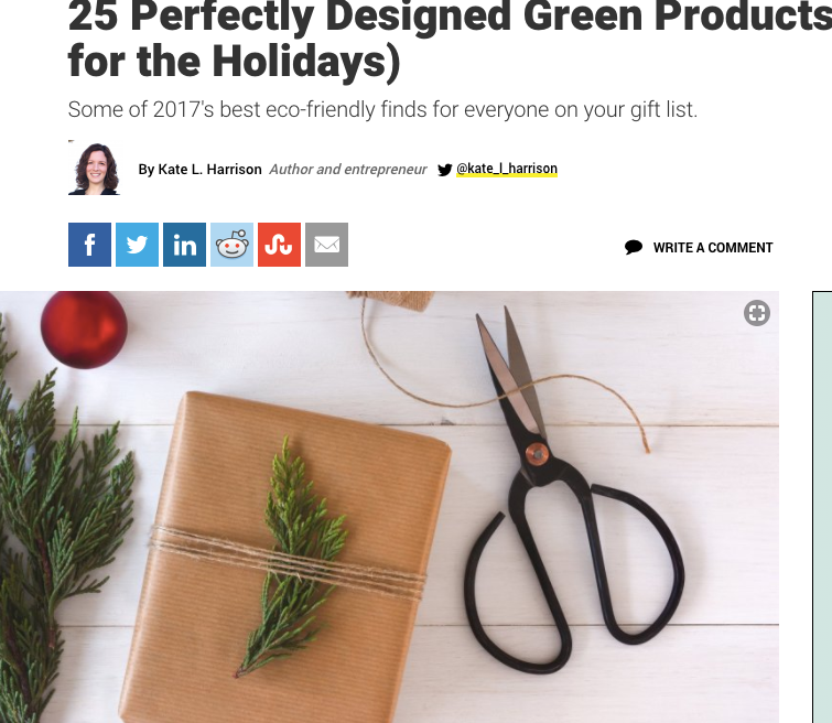 SoleMate Sox Featured in Inc. Magazine's Eco-Friendly Holiday Gift Guide