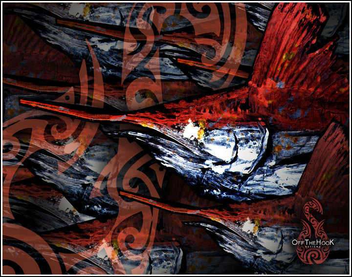 Gyotaku Fine Art Print - FIRE MARLIN Collection
