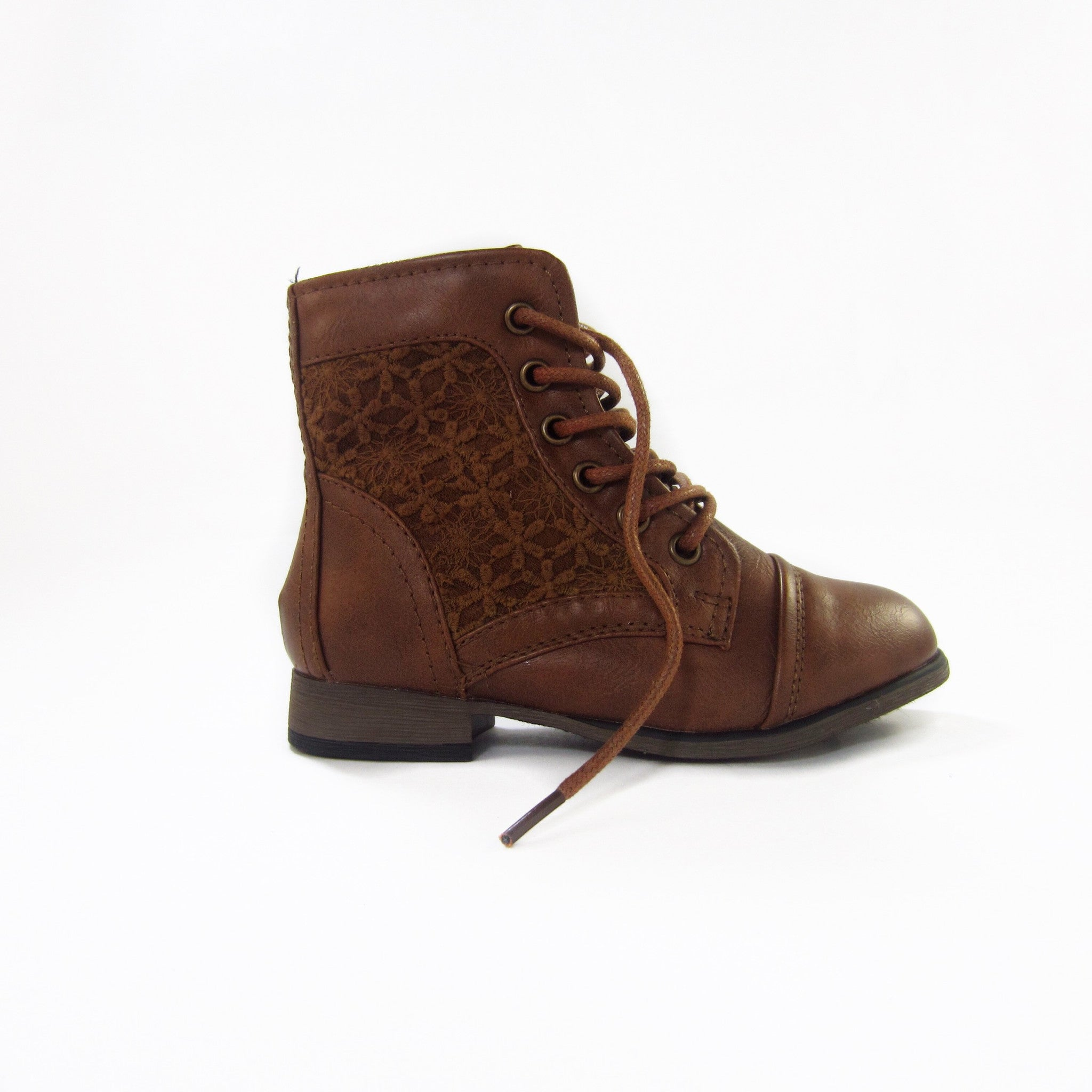 Girls Tan Ankle Boots - Young n Posh