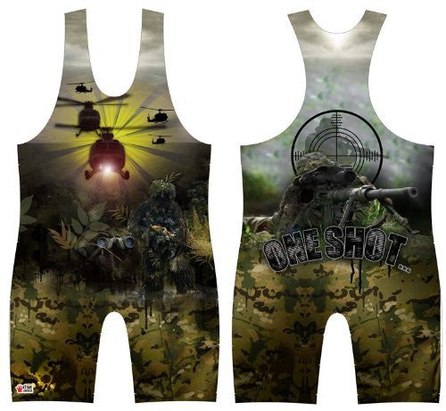 One Shot Wrestling Singlet