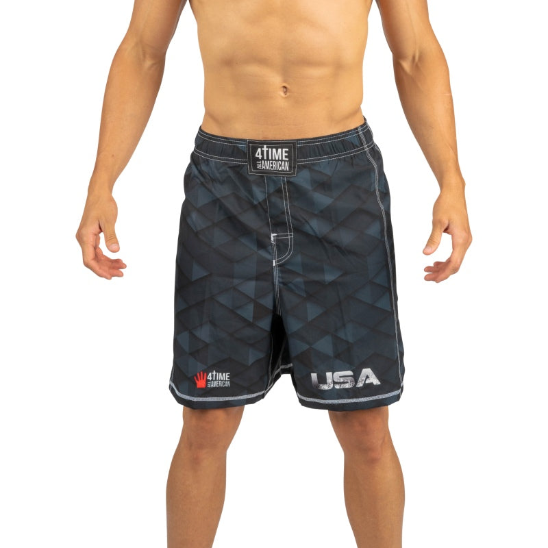 Black Wrestling Shorts, CrossFit, MMA, Wrestling, Kickboxing, Boxing Shorts