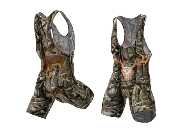 Country Camo Wrestling Singlet