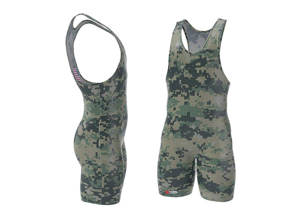 Digital Camo Wrestling Singlet