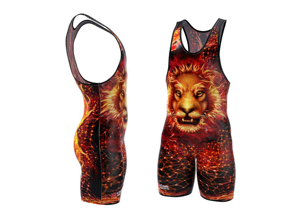 Fire Lion Wrestling Singlet