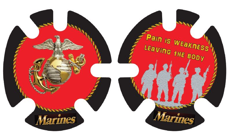 Marines:  Wrestling Headgear Decals, Wraps by 4Time All American