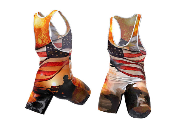 On Patrol Wrestling Singlet
