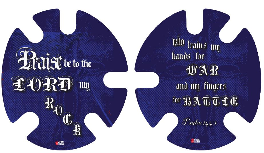 Psalm 144 Blue:  Wrestling Headgear Decals, Wraps by 4Time All American