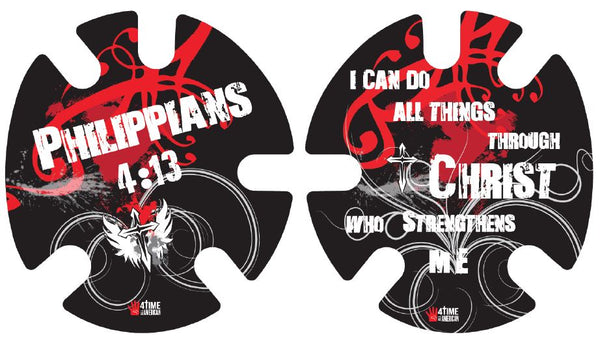 Philippians 4:13 Red:  Wrestling Headgear Decals, Wraps by 4Time All American