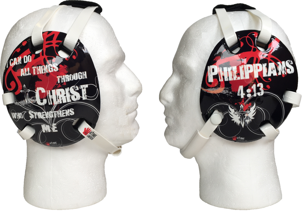 Philippians 4:13 Red Wrestling Headgear