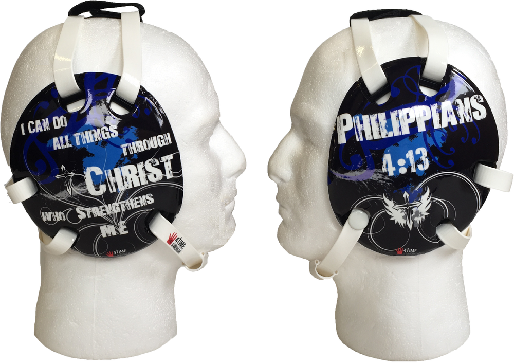 Philippians 4:13 Blue Wrestling Headgear