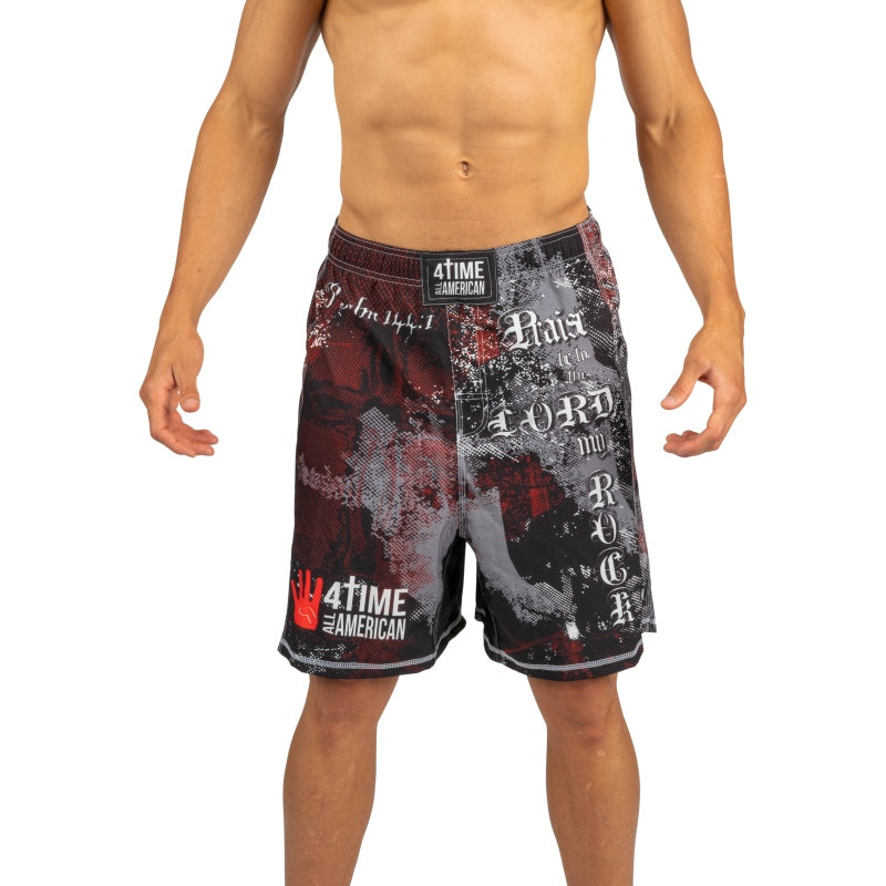Psalm 144 Fight Shorts: CrossFit, MMA, Wrestling, Kickboxing, Boxing Shorts