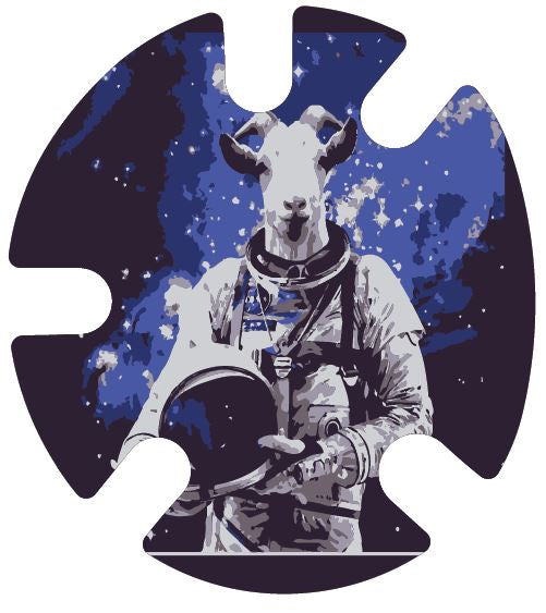 Space Goat:  Wrestling Headgear Decals, Wraps by 4Time All American