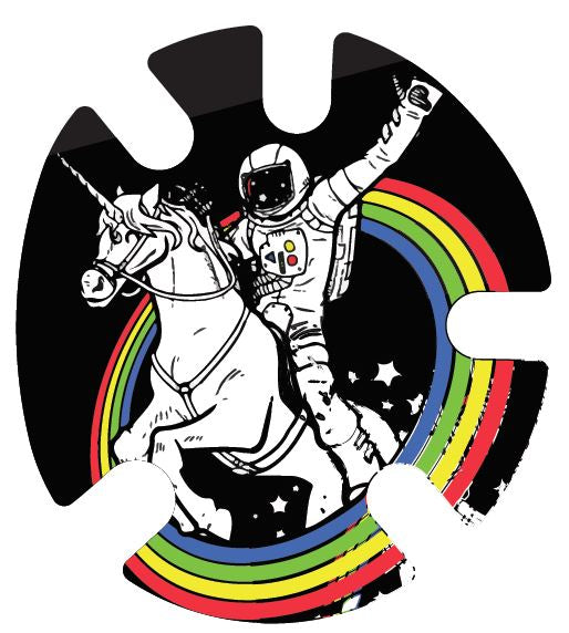 Spaceman Unicorn Rainbow: Wrestling Headgear Decals, Wraps by 4Time All American