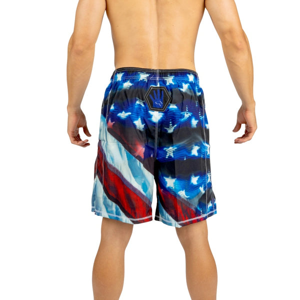 USA Fight Shorts: CrossFit, MMA, Wrestling, Kickboxing, Boxing Shorts