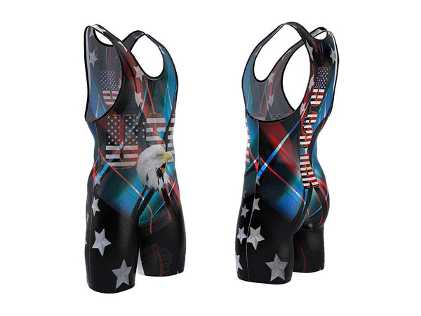 USA Black Wrestling Singlet